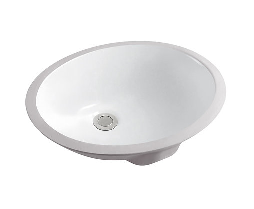 Oval Ceramic Undermount Basin SS-L19-WH BN