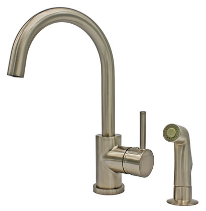 Single Handle Kitchen Faucet with Side Sprayer N88620B1-BN