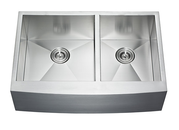 33″ Double Bow Farm Apron Sink AP3322BL-33BL