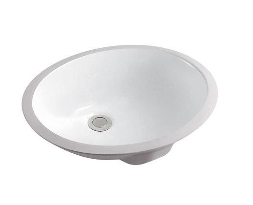 Oval Ceramic Undermount Basin SS-1708-WH