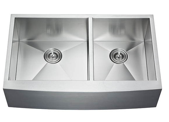 35″ Double Bowl Farm/Apron Sink AP3522BL-RD