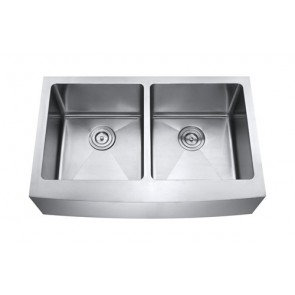 33″ Double Bowl Farm/Apron Sink Rounded Inner Corners AP3322D-RD