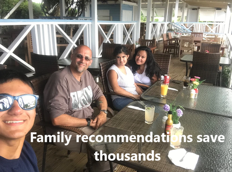 Family recommendations save thousands