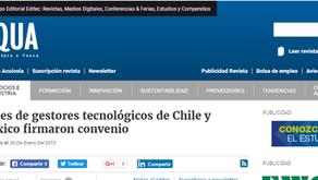 Redes de gestores tecnológicos de Chile y México firmaron convenio