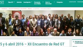 5 y 6 abril 2016 – XII Encuentro de Red GT