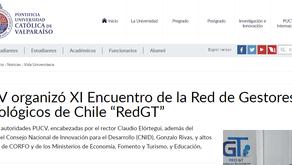 """PUCV organizó XI Encuentro de la Red de Gestores Tecnológicos de Chile """"RedGT"""""""
