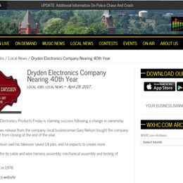 Dryden Electronics Company 40th Year