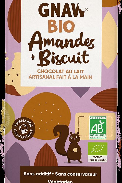 Mon chocolat au lait BIO amandes et biscuit