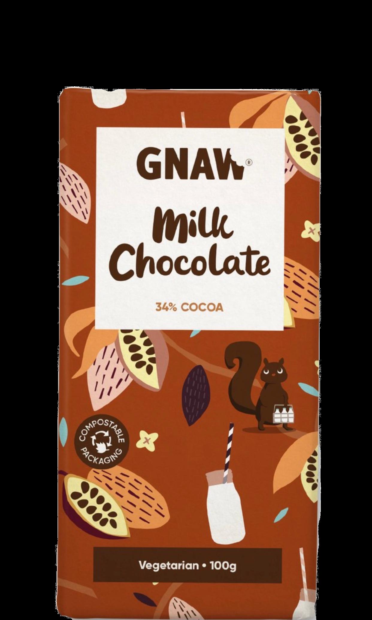 GNAW CHOCOLAT AU LAIT 100GR 506004414100
