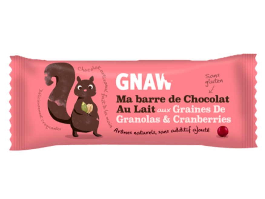Snacking, Barre de chocolat aux granolas et cranberries
