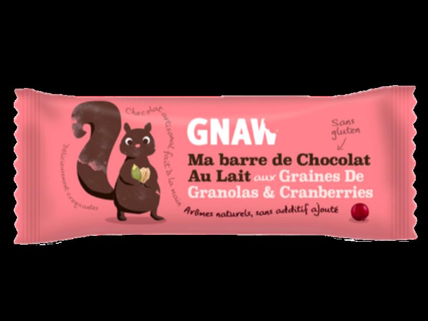 Snacking, Barre de chocolat aux granolas et cranberries