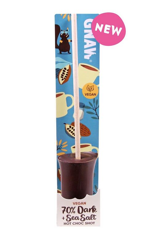 Dark chocolate and sea salt lollipop