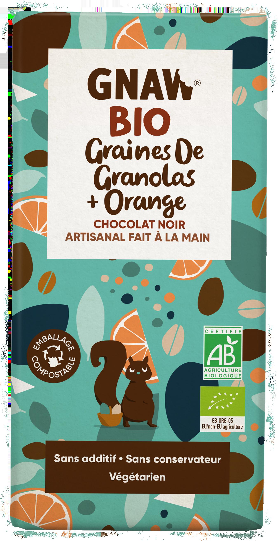 05060463490980 GNAW CHOCOLAT NOIR BIO, GRANOLAS ET ORANGE