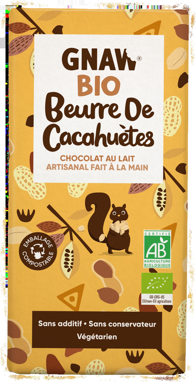 5060463490874 CHOCOLAT BIO LAIT BEURRE DE CACAHUETES