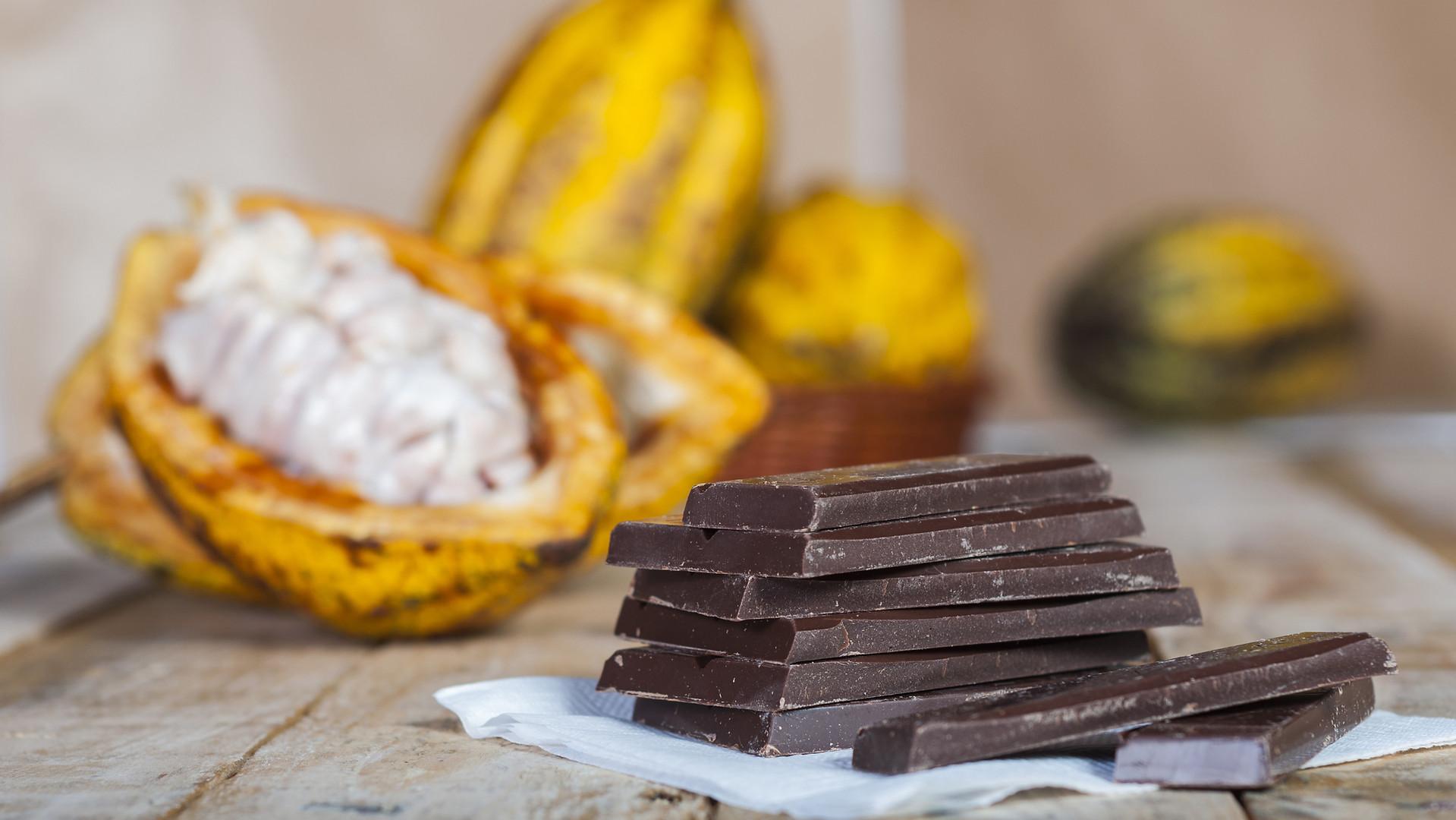 ألواح الشوكولاتة الداكنة 100٪