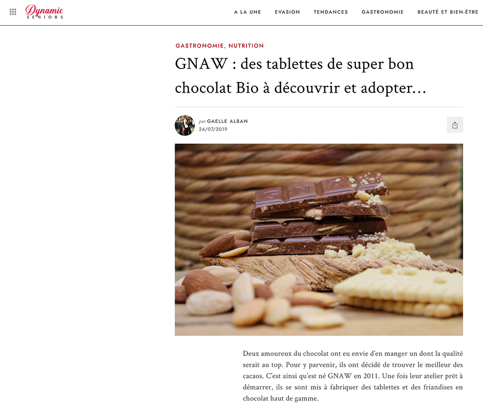 Gnaw chocolate France articles de presse