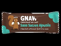BARRE GNAW CHOCOLAT AU LAIT SANS SUCRES AJOUTES