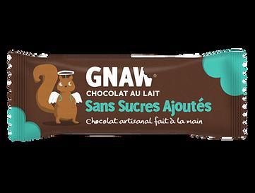 Barre GNAW de choclat au lait sans sucres ajoutés