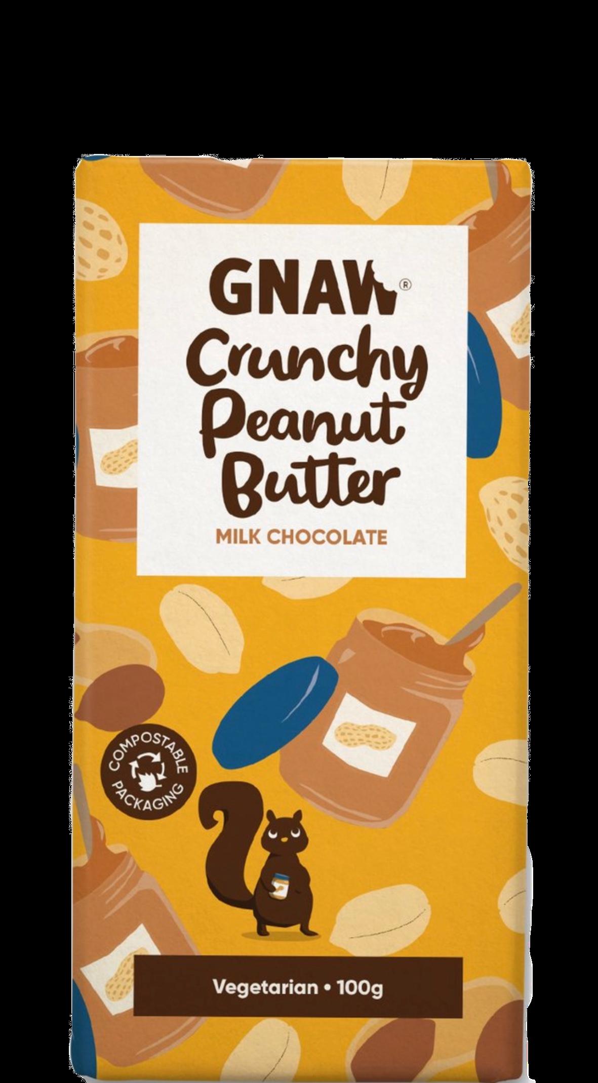 CHOCOLAT GNAW PEANUT BUTTER CRUNCHY 100G
