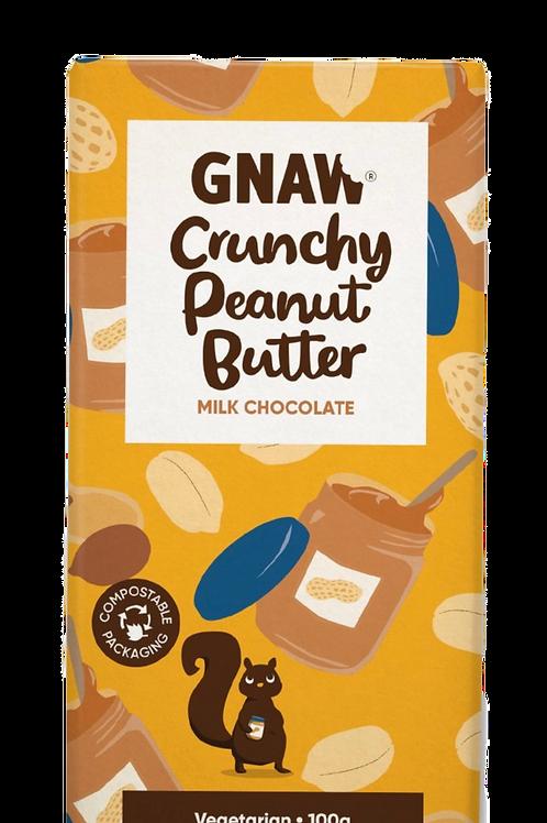Chocolat au lait, beurre de cacahuètes croustillant