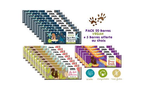 PACK 20 BARRES VEGAN +5 BARRES OFFERTES (PRÉCOMMANDE)