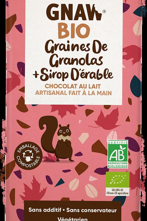 بذور جرانولا شوكولاتة الحليب العضوي وشراب القيقب