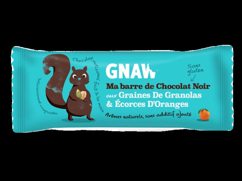 Snacking, Barre de chocolat aux granolas et orange