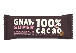 BARRE GNAW CHOCOLAT NOIR 100% CACO