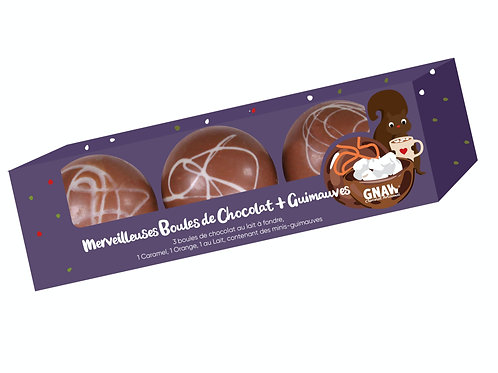 MERVEILLEUSES BOULES CHOCOLAT & GUIMAUVES (PRECOMMANDE)