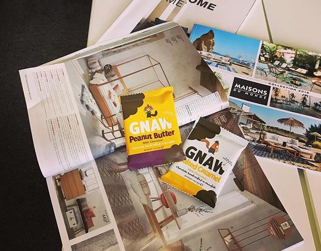 Les minis tablettes de chocolat GNAW