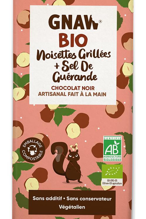 Mon chocolat noir BIO noisettes grillées et sel de Guérande