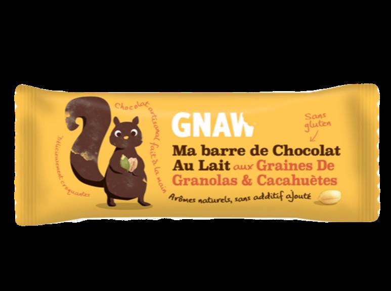 Snacking, Barre de chocolat aux granolas et cacahuètes