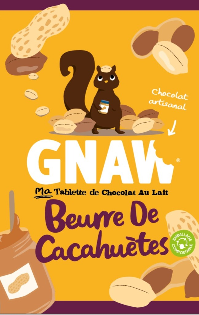 CHOCOLAT GNAW BEURRE DE CACAHUETE