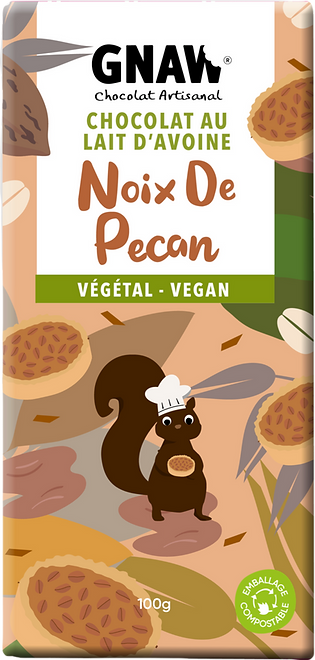 TABLETTE CHOCOLAT AVOINE VEGETAL NOIX DE PECAN