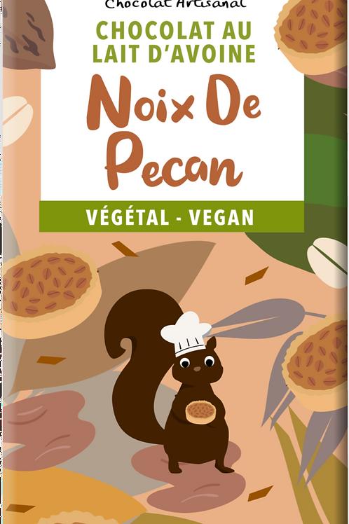 TABLETTE DE CHOCOLAT VEGAN, AVOINE ET NOIX DE PECAN 100GR (PRÉCOMMANDE)