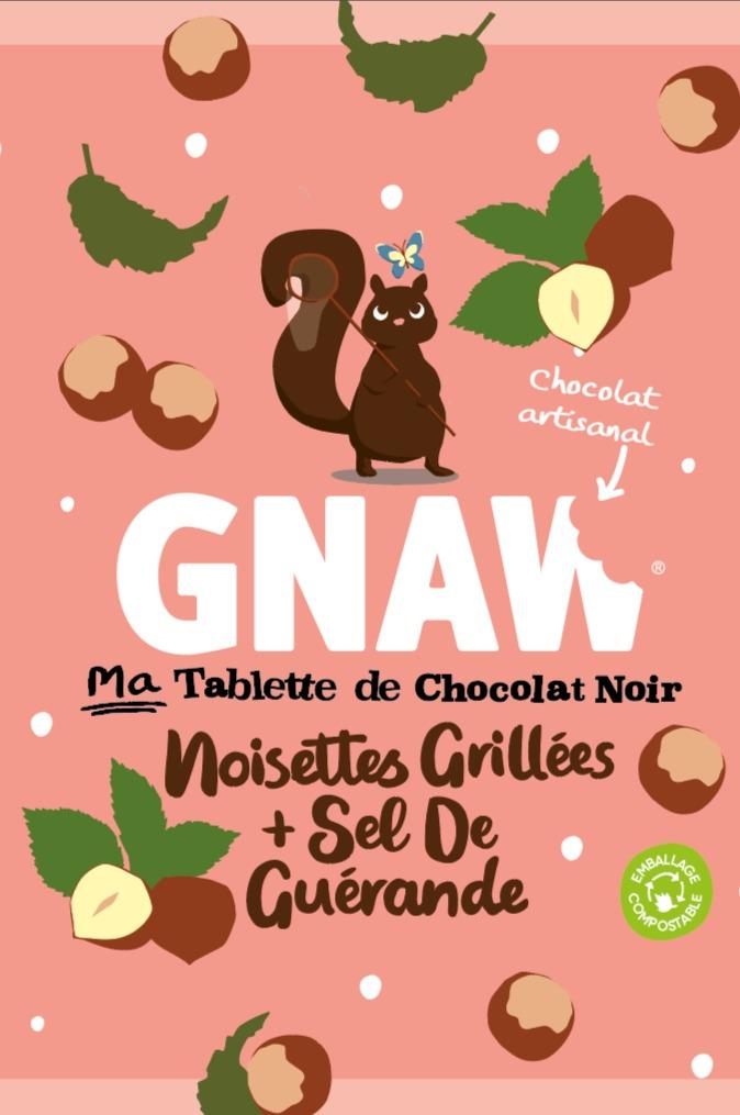CHOCOLAT GNAW NOIR SEL GUERANDE 50GR