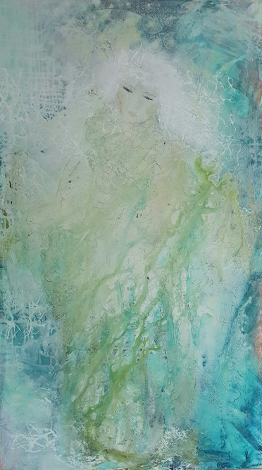 Solgt - Spiritual Growth - Mål 80x140-