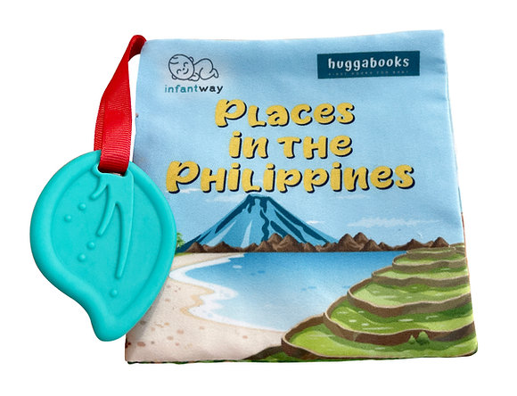 Infantway Huggabooks Travel Cloth Book with Teether