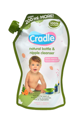 Cradle Natural Bottle & Nipple Cleanser Refill