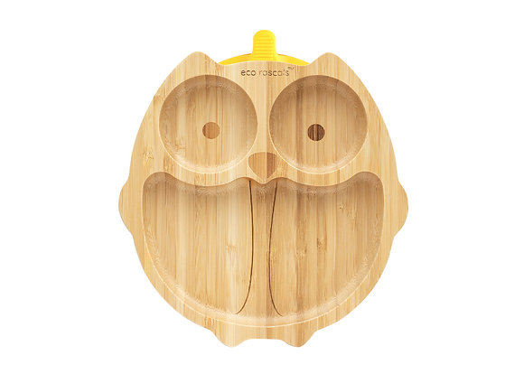 Eco Rascals: Owl Bamboo suction plate