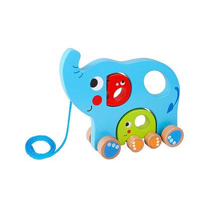 Tooky Toy: Pull Along Elephant Family