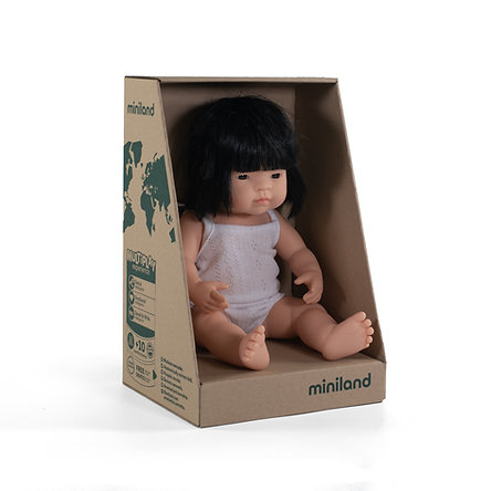 Miniland Doll Asian Boy and Girl (38cm)