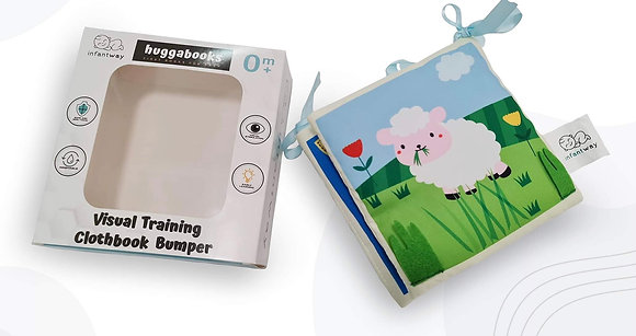 Infantway: Huggabooks Visual Training and Activity Cloth Book Bumper