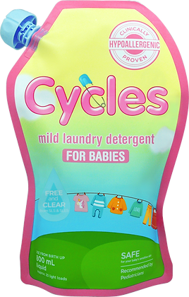 Cycles: Mild Liquid Detergent 800ml