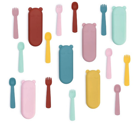 We Might Be Tiny: Silicone Feedie Fork & Spoon Set