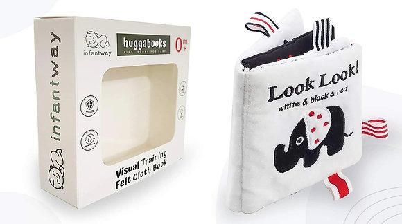 Infantway: Huggabooks Visual Training Felt Cloth Book