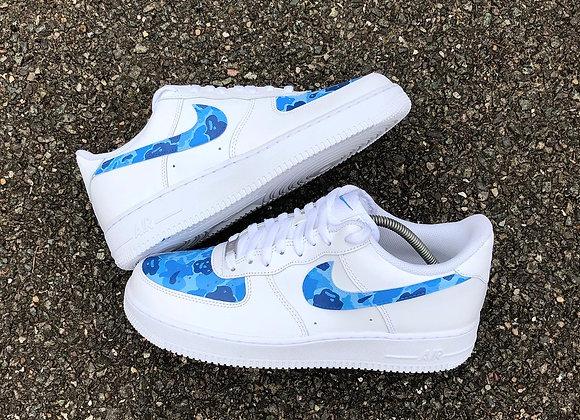 Air Force 1 - Blue BAPE Camo