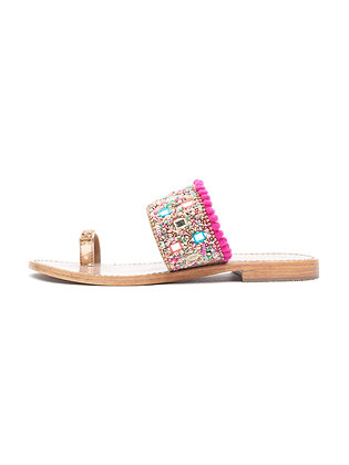 MULTICOLOUR SEQUIN TOE RING SLIDE