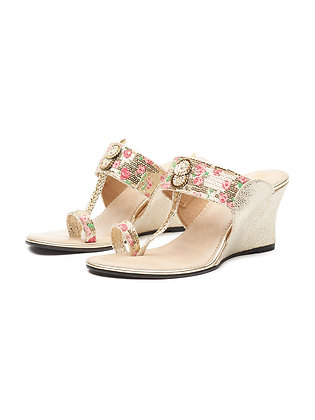 FLORAL SEQUINCED WEDGE