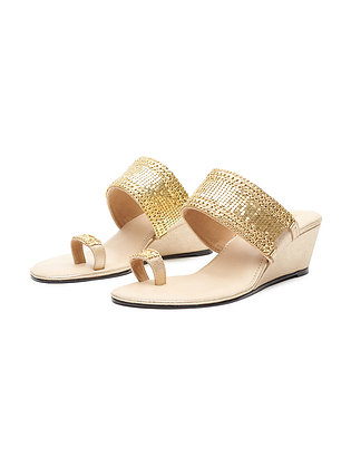 GLIMMERING TOE RING WEDGE
